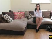 British office amateur fucks on casting couch