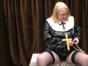 What does a naughty nun wear under her habit!!!!