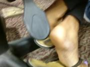 HS Friend's Candid Beautiful Ebony Feet in Library 2