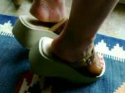 women next door fits wedge mules