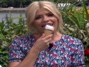 HOLLY WILLOUGHBY LICKING ICE CREAM SLO MO