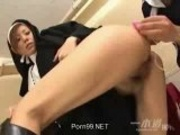 Japanese Nun learning sex