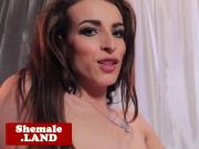 Natural tgirl Savannah Thorne solo jerkoff