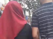 Turbanli sokak cekim Hijab Turkish