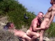 Beach threesome in the dunes