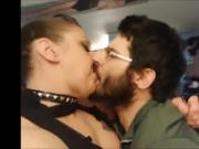 REAL LIFE AMATEUR MARRIED COUPLE Hot passionate kissing