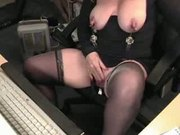 Pervert granny play hard on cam