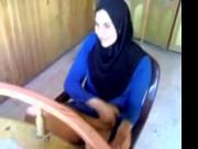 fuck slut hijab show her pussy