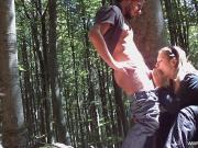 Italian Couple Fuck In The Woods