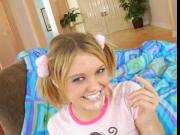 MRY - cute teen slut in pigtails rocks out a bbc