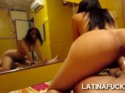 Stunning brunette Latina with hot booty