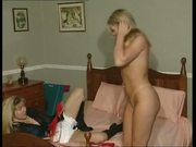 British slut Anna and friend in a lesbian scene