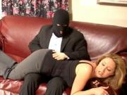 Robber spanks and finger fucks Mature lady