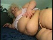 Sweet blonde BBW screwing