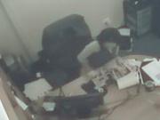 Secretary masturbating in office