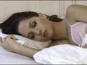 awesome girl wake up and masturbates
