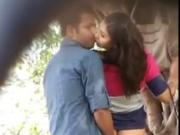 sexy lovers caught in hidden cam at public park