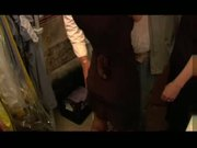 Housewife gangbanged in cellar