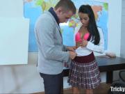 Tricky Old Teacher - Simona wanted the old teacher's dick