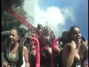 Tits Out Roller Coaster 1