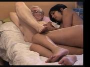 Nice Shemale with an older man