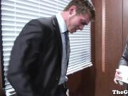 Gayoffice boss buttfucks clumsy jocky assistant