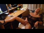 Jenny Jizz masturbates on my tribute...