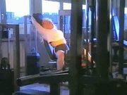 Kirsten Halborg at the gym