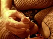 cumming in nylon