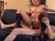 MILF enjoys pleasing a big cock