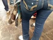 Candid thick milf booty in jeans 2