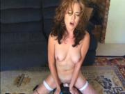 Young Red Head uses Toys and Sybian