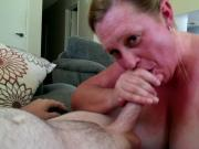 MILF slut sucking stranger from Craigslist