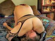 Redhead wife heavy face sitter