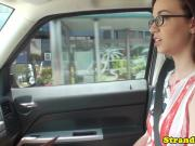 Stranded spex amateur nailed in back of car