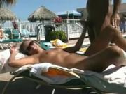 Fucking by the hotel pool