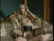 Dolce Sara Black Stockings Sex On Sofa
