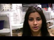 Alexa Loren flashes her titties in IKEA