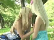 Amateur Lesbian teens having fun outdoors (MrNo)