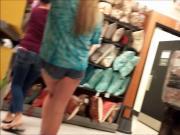 Teen jean shorts nice ass