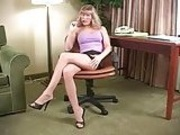 Secretary Annabel prepares for dicktation