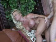 Dirty babe Holly Halston bends over for screwing
