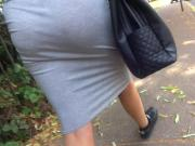 Big asss skirt see through thong