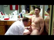 Big Dick Muscle Solider Gets Serviced Blowjob JO & Cum