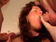 Manuela has great sex with two young studs