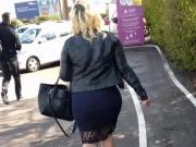 Fantastic sexy fat ass BBW walking down the street