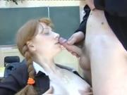 STP3 Lovely Pigtailed Ginger Schoolgirl Steals The Show !