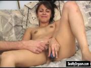 Latina Ana Vibrates Pussy