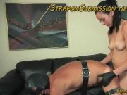 Mistress January Serpaph brutal cbt and pegging