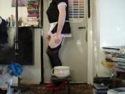 Sissy maid toilet
